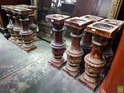 Sale 8550 - Lot 1054 - Set of Eleven Federation Drip Glaze Architectural Balustrades