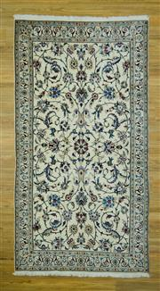 Sale 8601C - Lot 56 - Super Fine Persian Nain Silk inlay 232x120