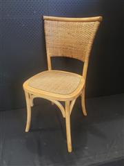 Sale 8951 - Lot 1016 - Set of Six Natural Rattan Back Dining Chairs (H: 89, W: 44, D: 55cm)