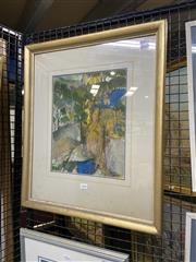Sale 8978 - Lot 2030 - Spiers Bushland mixed media collage on paper, 58 x 48cm (frame) signed lower