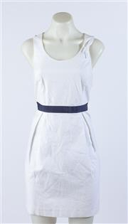 Sale 9003F - Lot 91 - A Marcs White Cotton Sleeveless Dress (small size). (some discolouration)