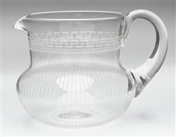 Sale 9123J - Lot 201 - An excellent quality English Webb finely etched lead crystal jug C: 1930's