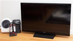 Sale 9190H - Lot 472 - A Toshiba LCD television Model no. 40CV550A-untested together with two heaters & a Coleman Battery Lantern-untested