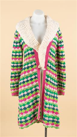 Sale 9250F - Lot 70 - An Anny Blatt, Paris muliti coloured knitted cardigan. Made in France, size S.