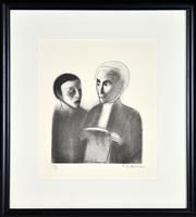 Sale 8347A - Lot 49 - Robert Dickerson (1924 - 2015) - Untitled (Legal Series) 32.5 x 27cm (sheet size)
