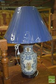 Sale 8359 - Lot 1734 - Pair of Blue and White Table Lamps (4443)