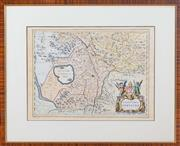 Sale 8625A - Lot 13 - A set of eight framed vintage engraved world maps from Willem Blaeus Atlas Appendix to include; Africa, Belgia & Aglica Nova, Mal d...