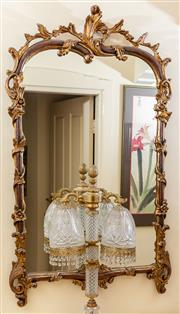 Sale 8882H - Lot 1 - A rococco style gilt mirror modelled as a clambering vine, Height 119cm x 73cm