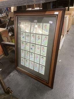 Sale 9101 - Lot 2217 - Framed Cigarette Cards