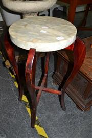 Sale 8013 - Lot 1146 - Marble Top Timber Jardiniere Stand