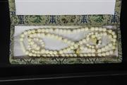 Sale 8123 - Lot 41 - Ivory Eighty Eight Bead Necklace with Two Pairs of Earrings