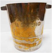 Sale 8298 - Lot 97 - A French Art Deco ' Pommery and Greco' champagne bucket --     chrome or silvered finish on copper ?.  21 cm