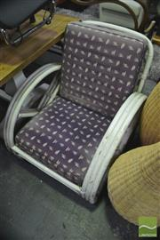 Sale 8338 - Lot 1161 - Painted White Cane Chair