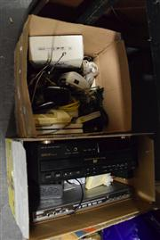 Sale 8405 - Lot 2247 - Two Boxes Of Electronics Incl. 5 Disc Changer and Modems