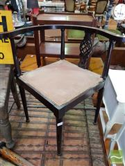 Sale 8469 - Lot 1093 - Timber Corner Chair & Another (2)