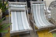 Sale 8532 - Lot 1246 - Pair of Rustic Deck Chairs