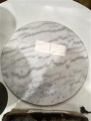 Sale 8745 - Lot 1096 - Round White Marble Table Top Only (D: 60cm)