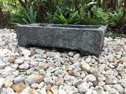 Sale 8857H - Lot 33 - A Carved Chinese Stone Trough / Planter Depicting Chinese Charm Cloud Motif ,General Wear, Size: 80cm L x 39cm W x 20cm H Aged, Gene...