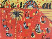 Sale 9062A - Lot 5034 - Yosi Messiah (1964 - ) - Fire Harbour 75 x 100 cm