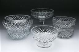 Sale 9098 - Lot 198 - Collection of Cut Glass Bowls & Comports (Tallest - H:22.5cm)