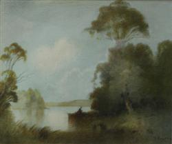Sale 7919 - Lot 552 - Graham Ansdell, River Scene, watercolour, 22 x 26cm, signed lower right