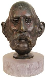 Sale 7974 - Lot 13 - Bronze Bust of a Gent Sporting a Hulihee
