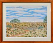 Sale 8068A - Lot 46 - Hugh Schulz (1921 - 2005) - Untitled (Outback Landscape with Galas) 70 x 89.5cm