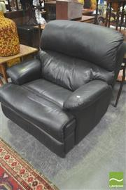 Sale 8277 - Lot 1044 - Black Leather Recliner