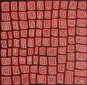 Sale 8321 - Lot 561 - Thomas Tjapaltjarri (c1964 - ) - Tingari 96 x 98cm