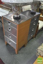 Sale 8406 - Lot 1058 - Pair of Industrial Four Drawer Chests