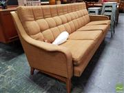 Sale 8493 - Lot 1075 - Vintage Three Seater Fabric Lounge Suite