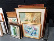 Sale 8682 - Lot 2070 - Large Collection of Artworks incl Hill & Dubach