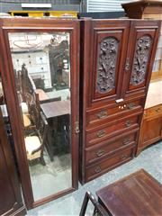 Sale 8740 - Lot 1699 - Part Heavily Carved Victorian Wardrobe