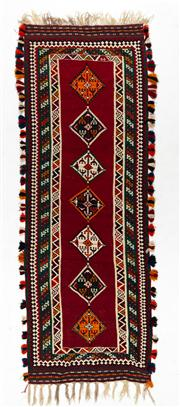 Sale 8770C - Lot 79 - A Persian Kashqai Hand Woven Kilim Natural Dyes 100% Wool, 370 x 131cm