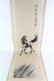 Sale 8869 - Lot 95 - A Chinese scroll featuring a horse (L194cm)