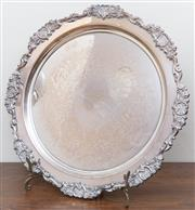 Sale 8926K - Lot 8 - A Rodd Heckworth silver plated tray with dedication, D 38cm