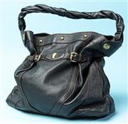 Sale 9090F - Lot 177 - A FENDI BUCKET BAG; in brown leather with rope twist handles and gold hardware