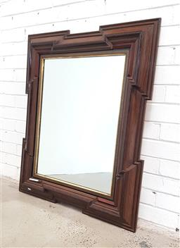 Sale 9126 - Lot 1161 - 19th Century Rectangular Mirror, in the 17th century style, with articulated corners and Greek-key inner border ( 105 x 85cm)