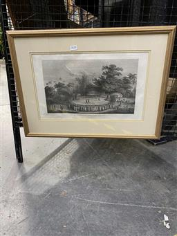 Sale 9176 - Lot 2018 - John Webber The Reception of Captain Cook in Hapaee engraving 27.5 x 45cmm published 1784 -