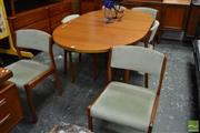 Sale 8493 - Lot 1021 - Clausen Danish Teak Dining Table and Six Chairs