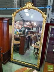 Sale 8539 - Lot 1064 - Very Large Louis XV Style Gilt Mirror, the frame with a moulded design and surmounted by a crest. Probably ex Antiques on Consignment