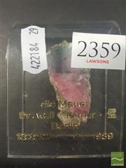 Sale 8548 - Lot 2272 - Part of the Berlin Wall 1961-1989 on Plastic Mount