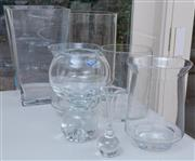 Sale 8550H - Lot 152 - Seven glass vases including crystal in various sizes