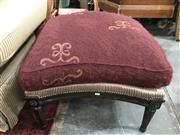 Sale 8817 - Lot 1034 - Timber Framed Footstool with Mo Hair Cushion
