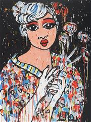 Sale 9062A - Lot 5006 - Yosi Messiah (1964 - ) - Flower Girl 100 x 75 cm