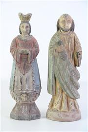 Sale 8905S - Lot 677 - Two Santos figures, both 37cm high, missing hand to one