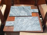 Sale 8959 - Lot 1015 - Pair of Grey Marble Cheese Boards (40cm)