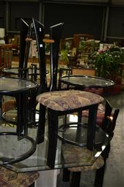 Sale 7987A - Lot 1125 - Set of 6 Black Modernist Dining Chairs