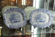 Sale 8047 - Lot 15 - Pair of Large Victorian Blue and White Warwick Vase Platters by Elkin & Newborne