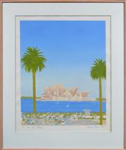 Sale 8068A - Lot 41 - Natasha Florean (XX) - Clear Day in Sydney 88 x 97cm